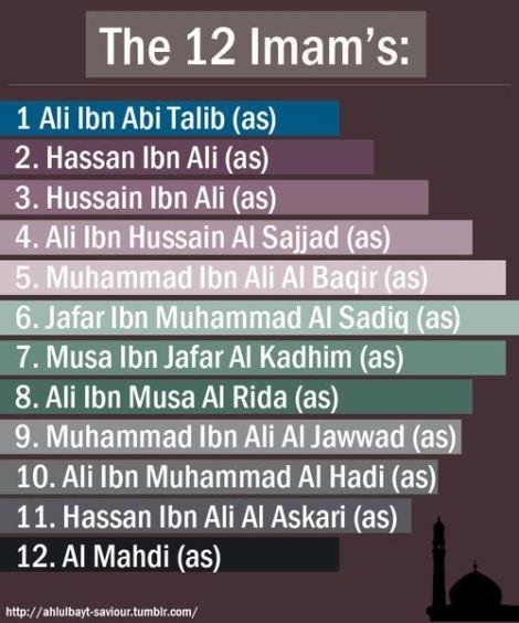 12 Imam Ahlulbait as
